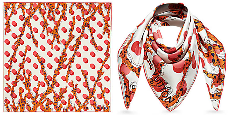 Louis-vuitton-ramage-dots-square-scarves-shawls